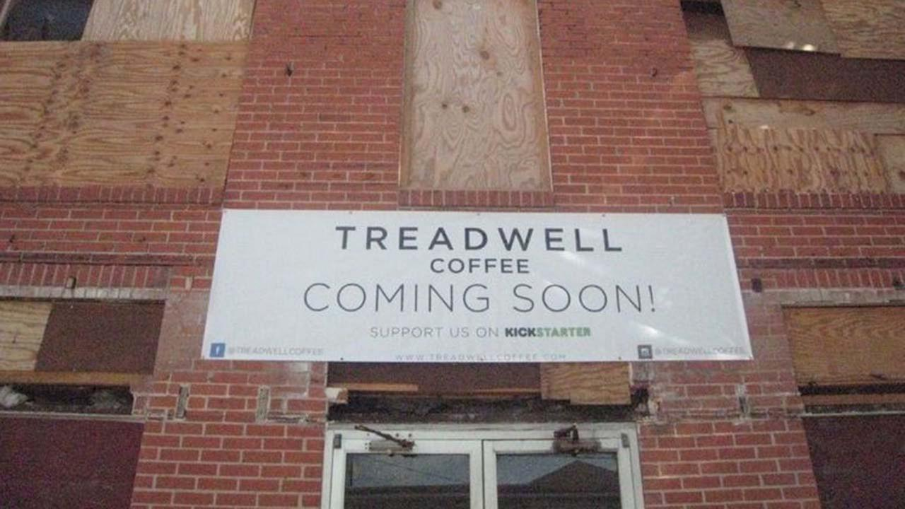 Jon McConnell and Shane Holmes have worked for months to demo the building where Treadwell Coffee is set to be located and recently kicked off a Kickstarter crowd-funding website to raise funds for the build out.