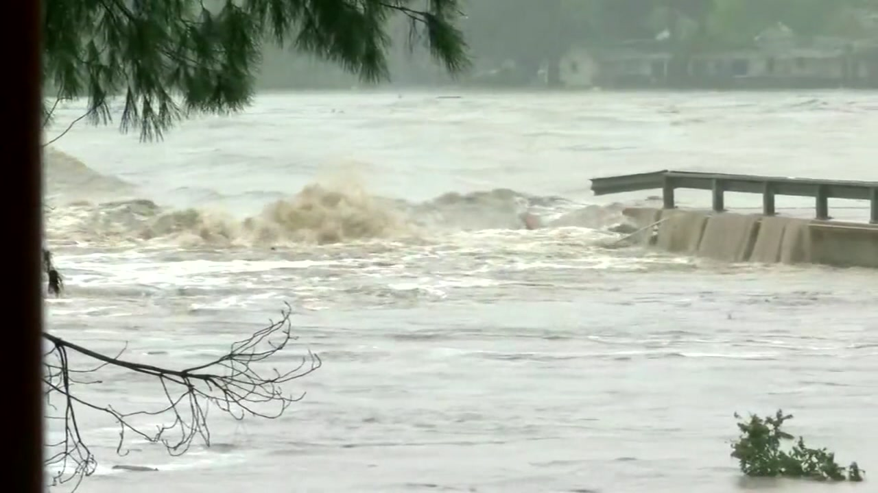 Llano River bridge destroyed by rushing flood waters as storms hit parts of Texa...