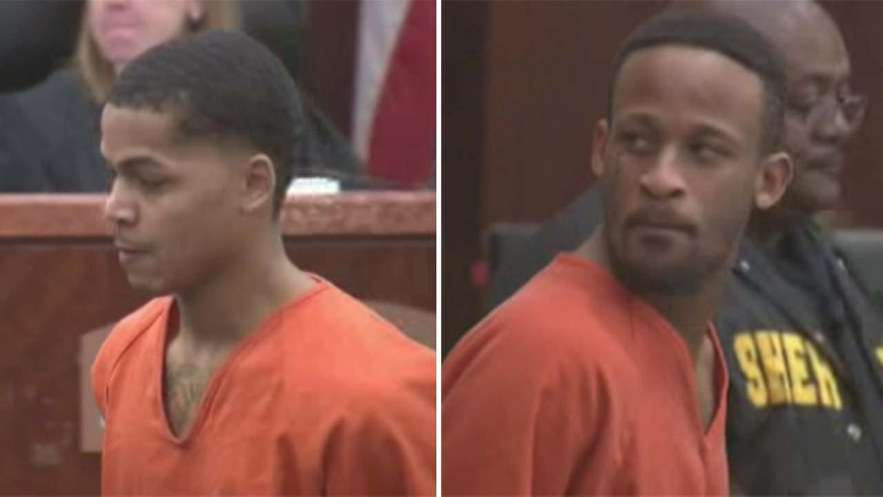 Guzman, left, and Ferguson in court