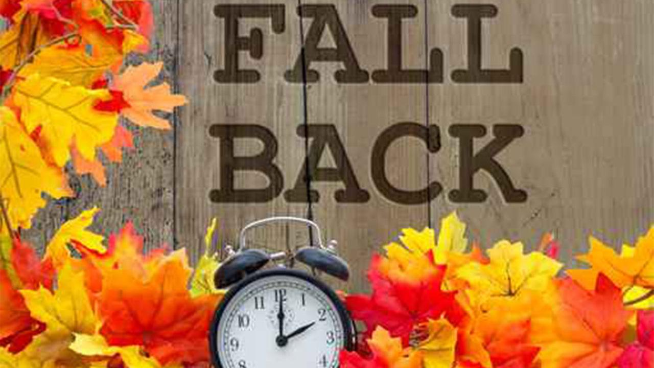 Get ready to 'fall back' and change your clocks this weekend