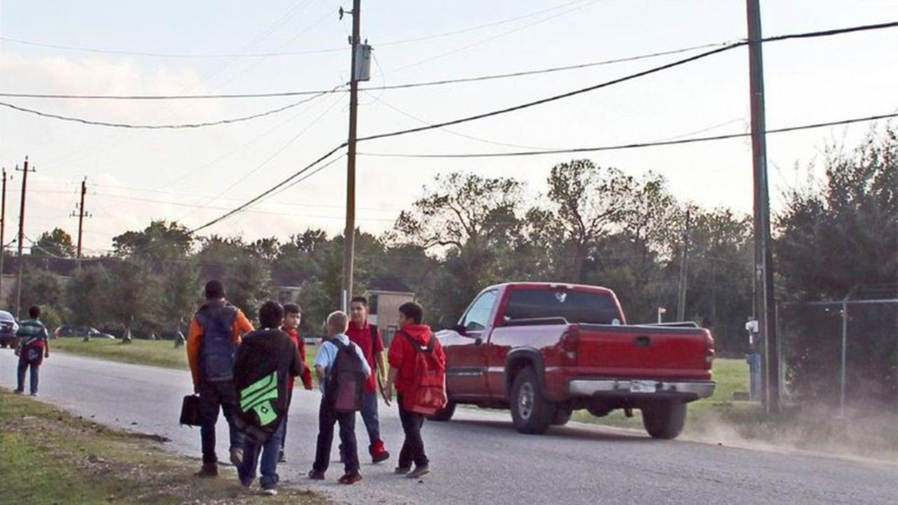 A group of fifth and sixth-graders from Keller Middle School say its not safe for students to walk in the road and have lobbied the Pasadena City Council to install a sidewalk.