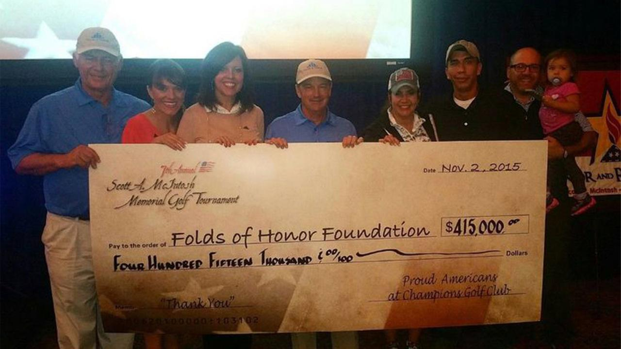 The Patriot Dinner and the golf tournament raised approximately $430,000 this year.