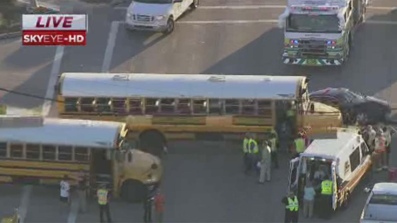 School bus accident in northwest Harris County