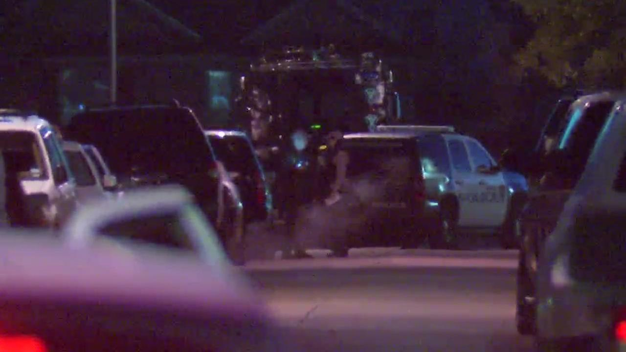 A SWAT team has been deployed to the scene of a domestic disturbance in Houston.