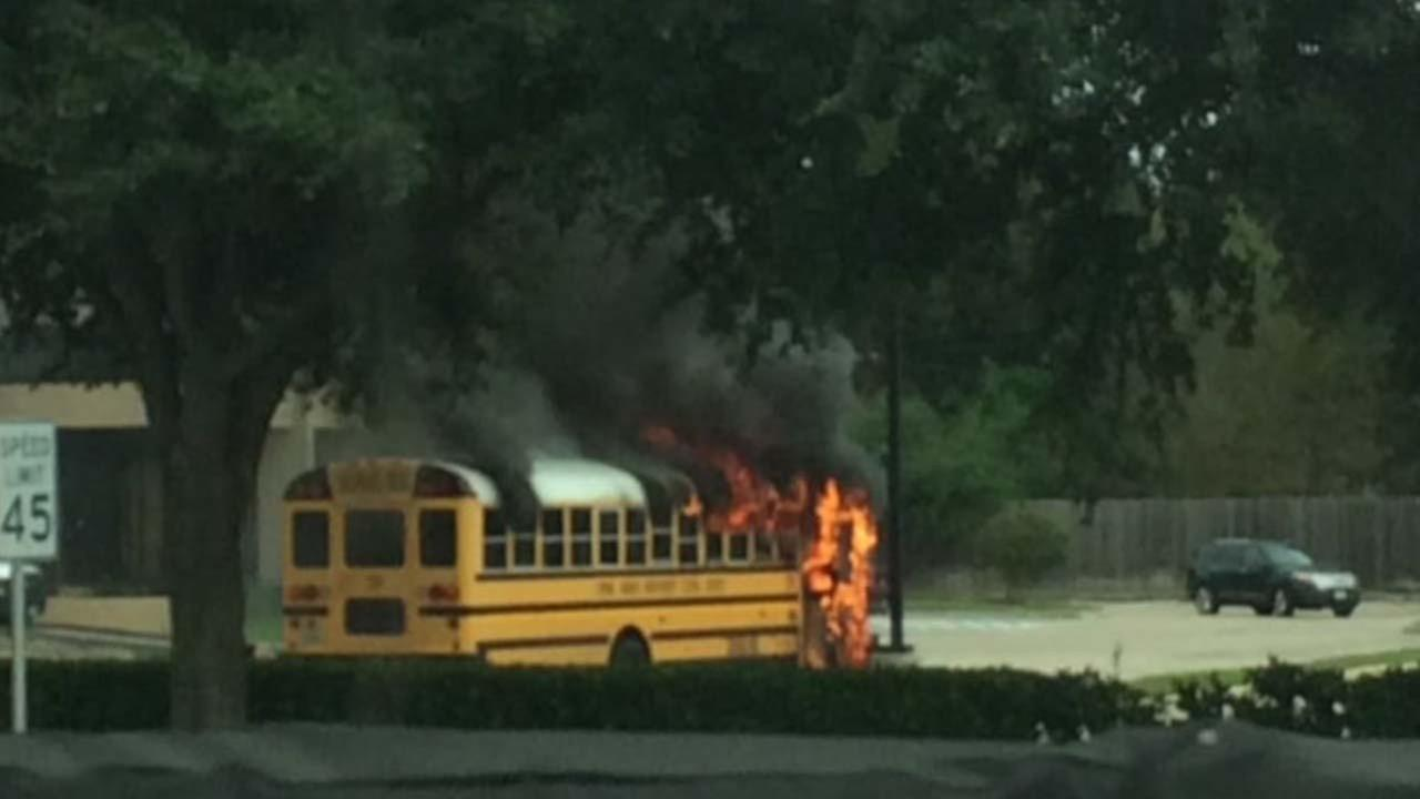 Bus fire during school trip