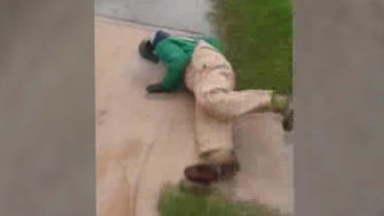 Video released shows the knockout of an elderly man.