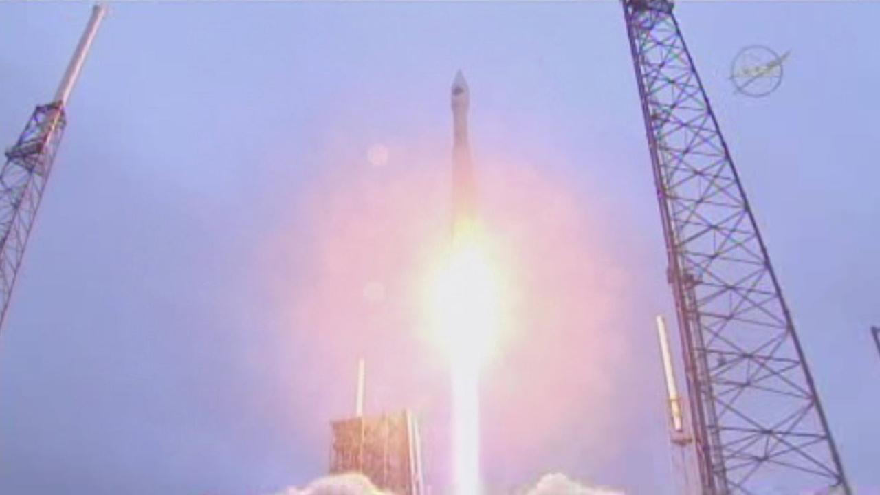 Liftoff: 1st US shipment in months flying to International Space Station