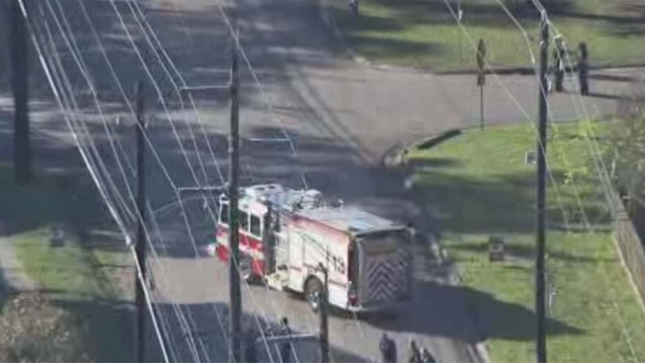 Power line down in northwest Houston