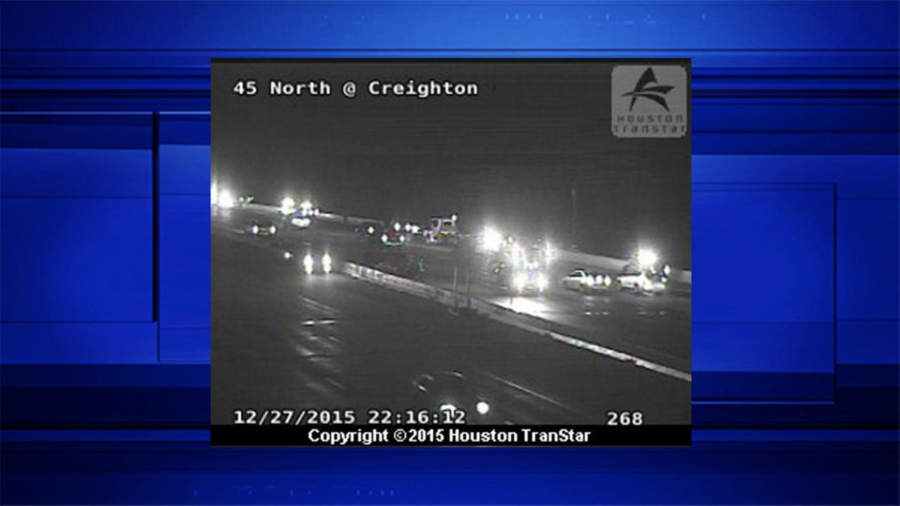 All NB lanes of I-45 shut down at Creighton Road due to major accident