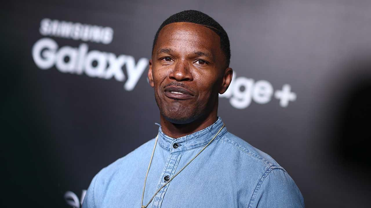 Jamie Foxx, seen left at a Samsung launch event West Hollywood on Aug. 18, 2015, rescued a trapped driver from a fiery crash in California on Monday, Jan. 18, 2016.
