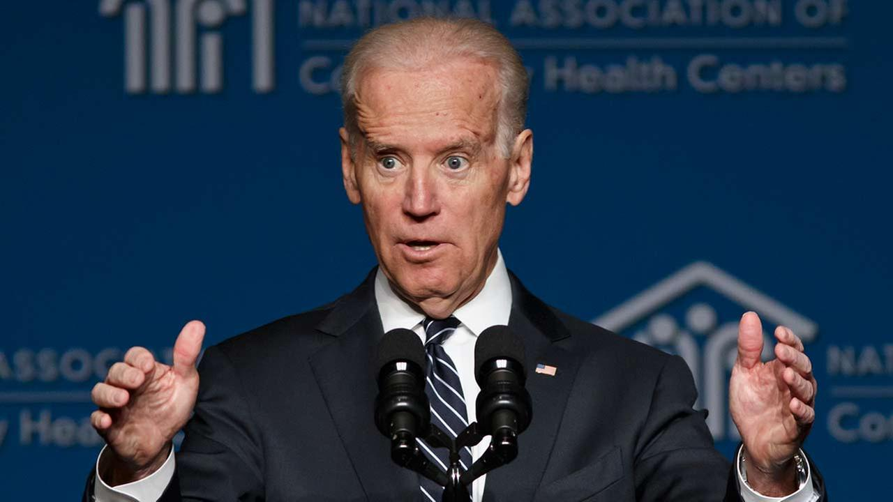 Vice President Joe Biden thanks the National Association of Community Health Centers during their meeting at the Marriott Wardman Park Hotel in Washington, Friday, March 21, 2014.