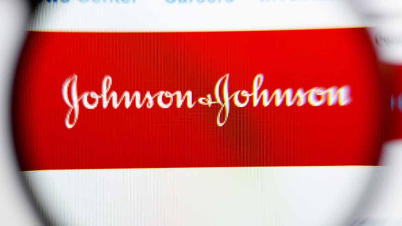 Johnson and Johnson logo.