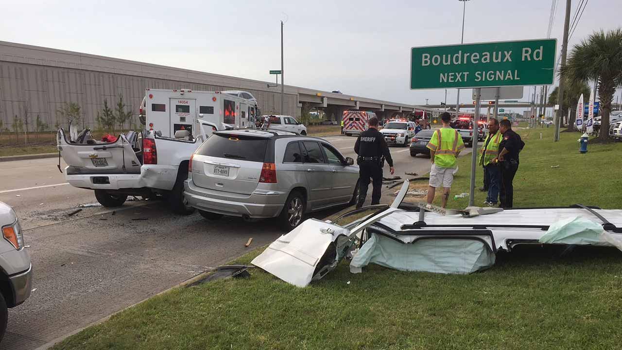 Car accident at Boudreaux
