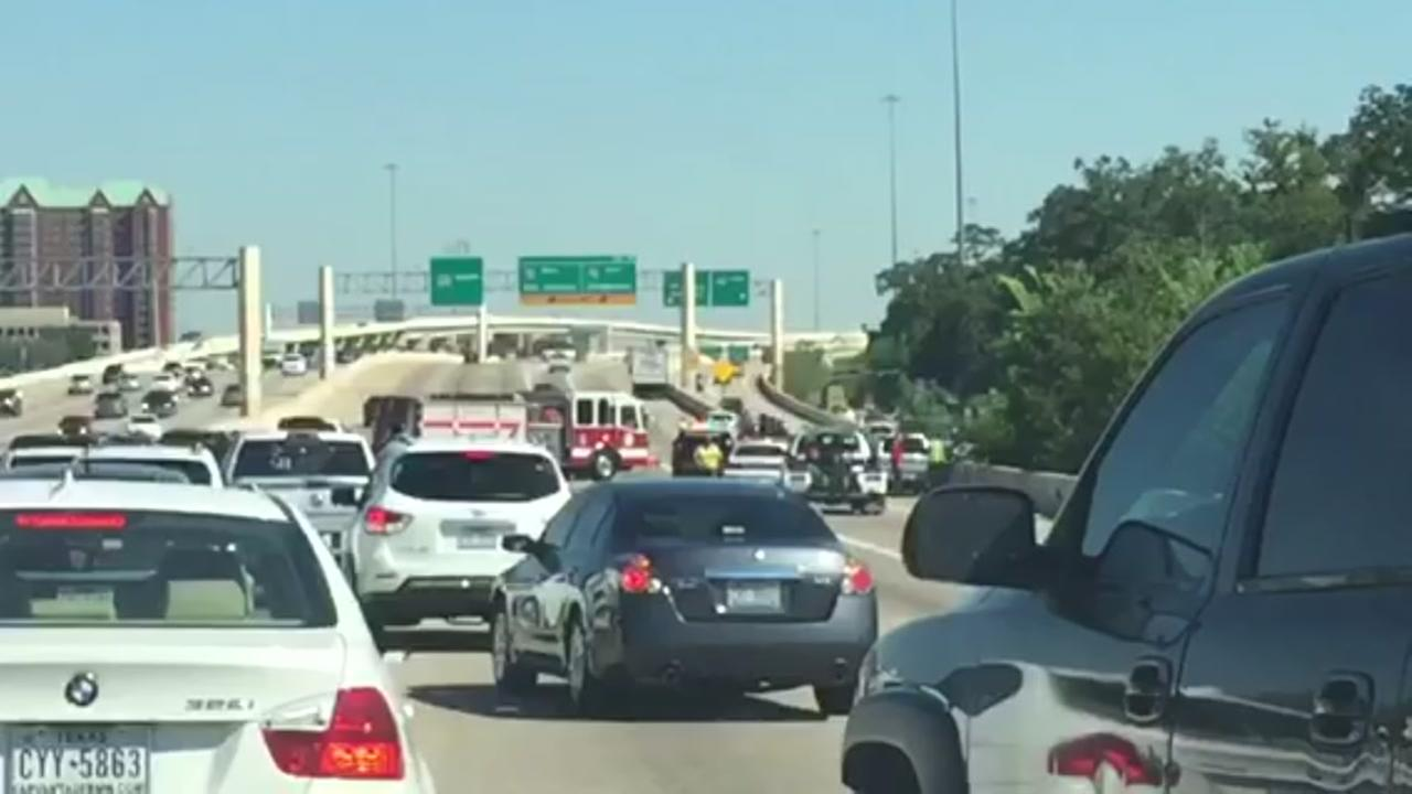Three-vehicle accident jams traffic at 610 West Loop NB near Katy Fwy