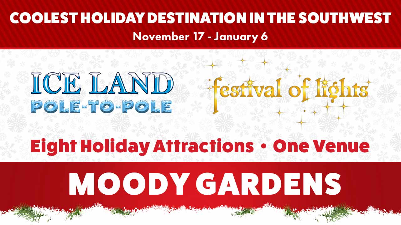 Moody Gardens Holiday Events!