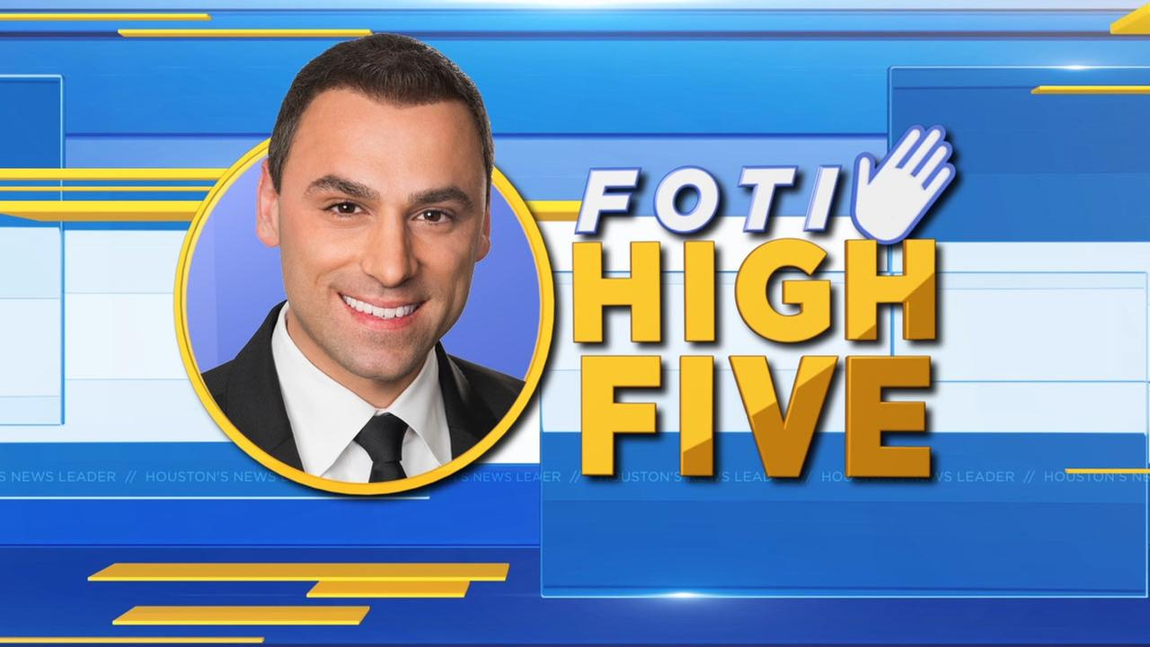 Deserving groups and individuals get recognized with a Foti High Five
