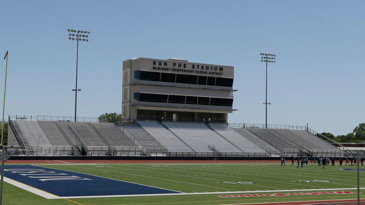 In this April 28, 2016, file photo, middle schoolers use the field in Ron Poe Stadium in McKinney, Texas.