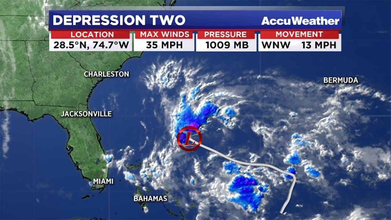 Tropical Depression #2 forms in Atlantic