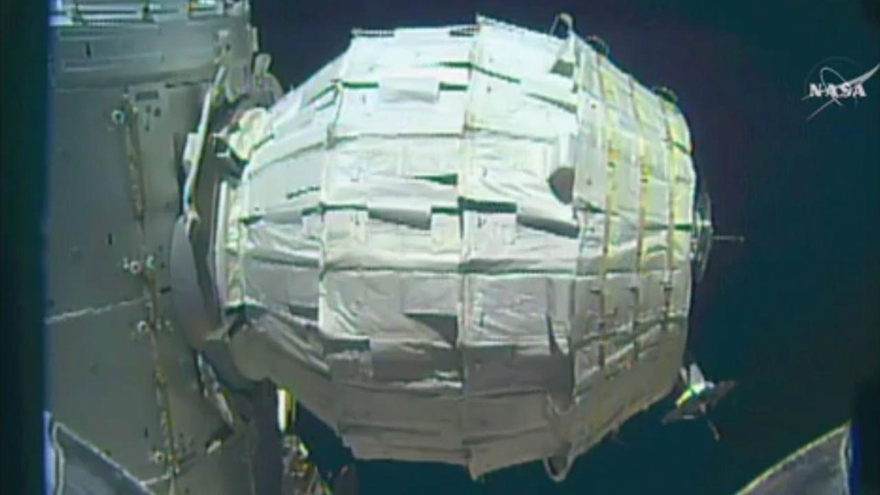 Saturday was NASAs second shot at inflating the Bigelow Expandable Activity Module , named for the aerospace company that created it as a precursor to moon and Mars habitat.