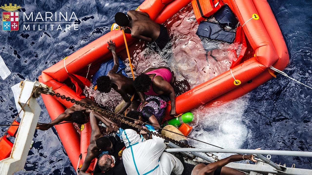 Migrants rescued off the Libyan coast