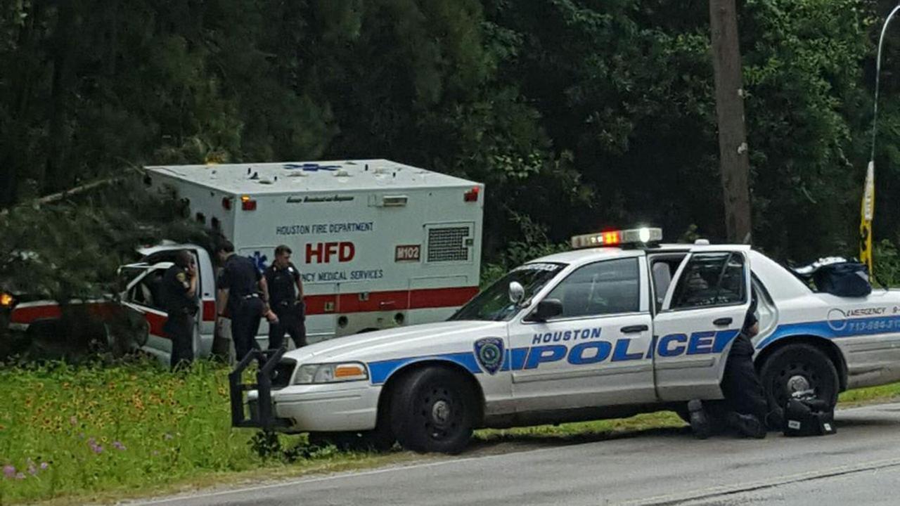 Stolen HFD ambulance