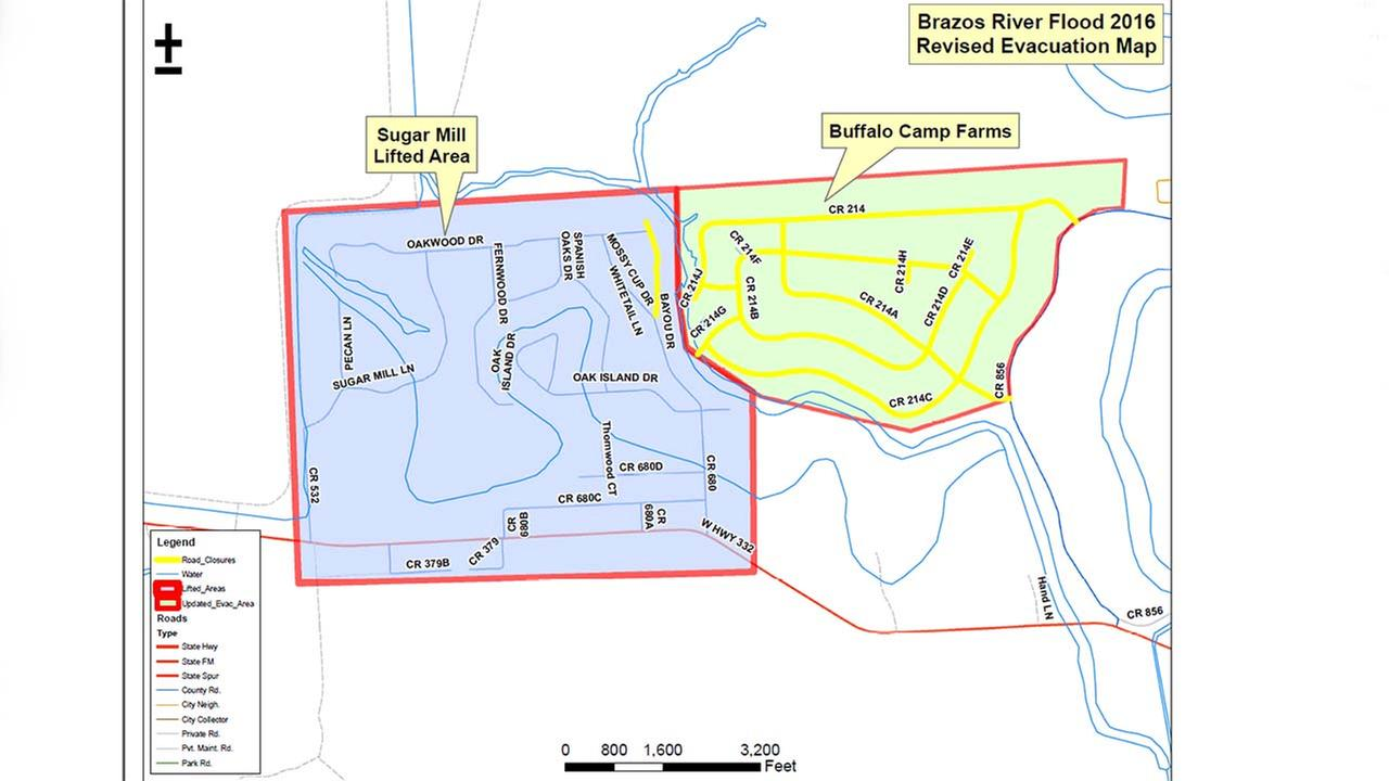 Brazoria County Evacuation Map