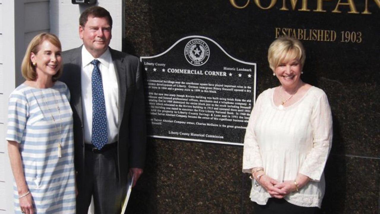 Historical marker dedicated at Tarver Abstract