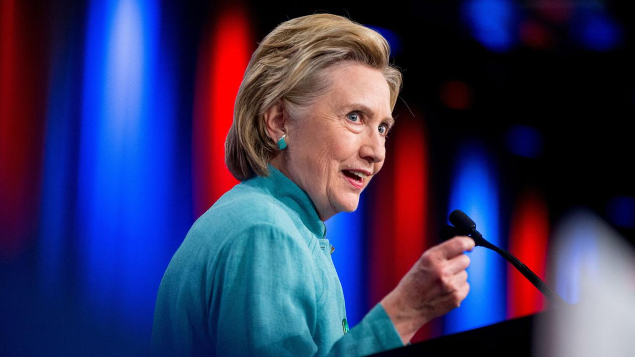 Democratic presidential candidate Hillary Clinton speaks at the U.S. Conference of Mayors in Indianapolis, Sunday, June 26, 2016.