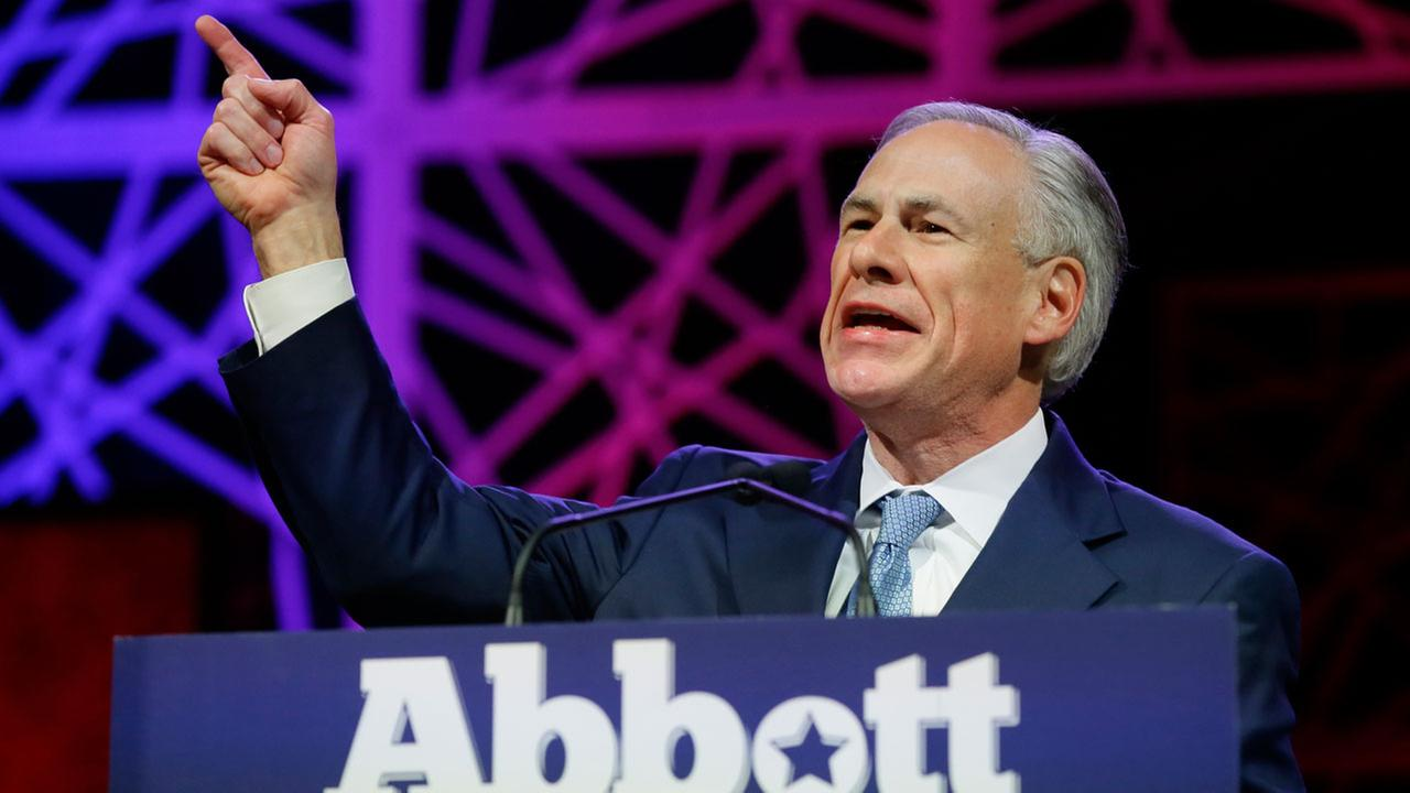 Texas Gov. Greg Abbott speaks during the opening of the Texas Republican Convention in Dallas on May 12, 2016.