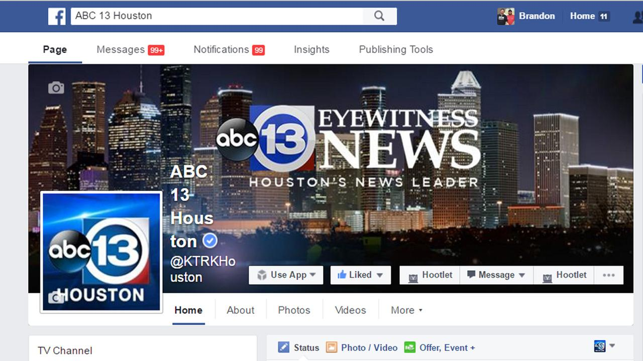 abc13 Facebook page