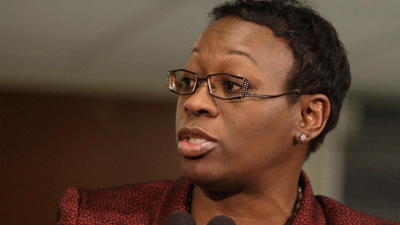 Then-Ohio state Sen. Nina Turner speaks after Ohio Gov. John Kasichs 2012 State of the State address.