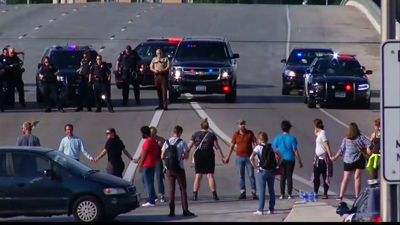 Protesters block Minnesota highway, snarling rush hour traffic