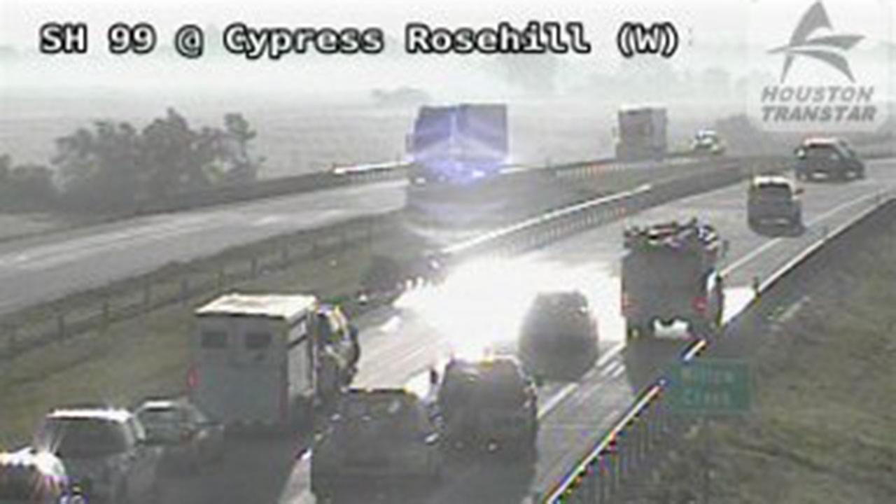 All mainlanes are reopen after an accident on SH-99 Grand Pkwy EB At Cypress Rosehill