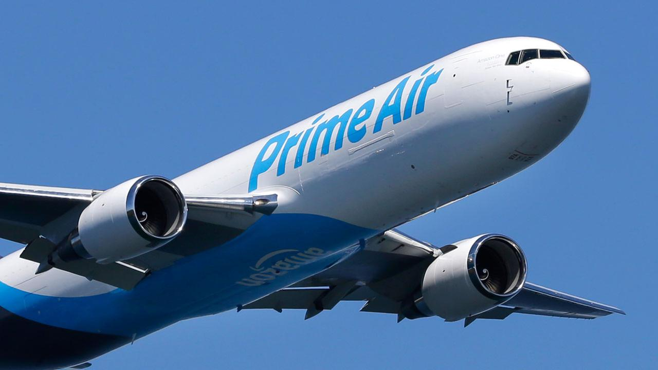 Amazon unveiled its first branded cargo plane Thursday, one of 40 freighters that will make up the companys own air transportation network.
