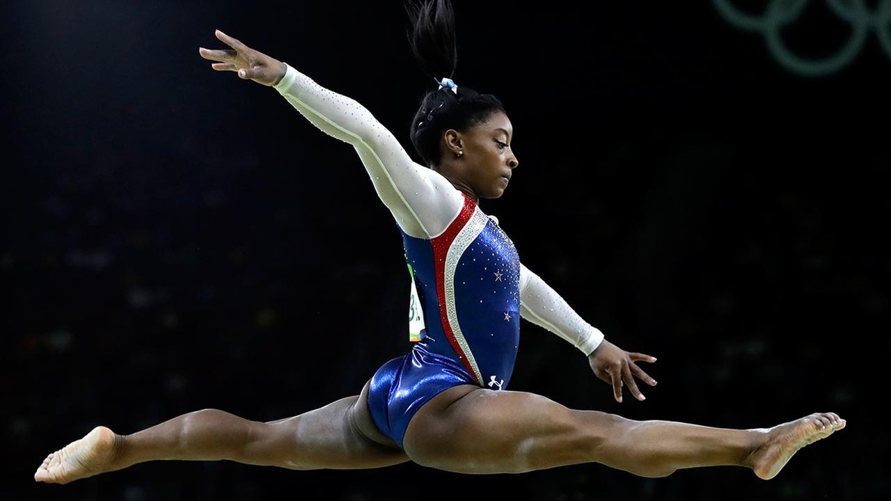 United States Simone Biles performs on the balance beam