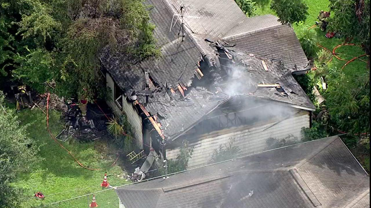 Fire rips through house in east Houston
