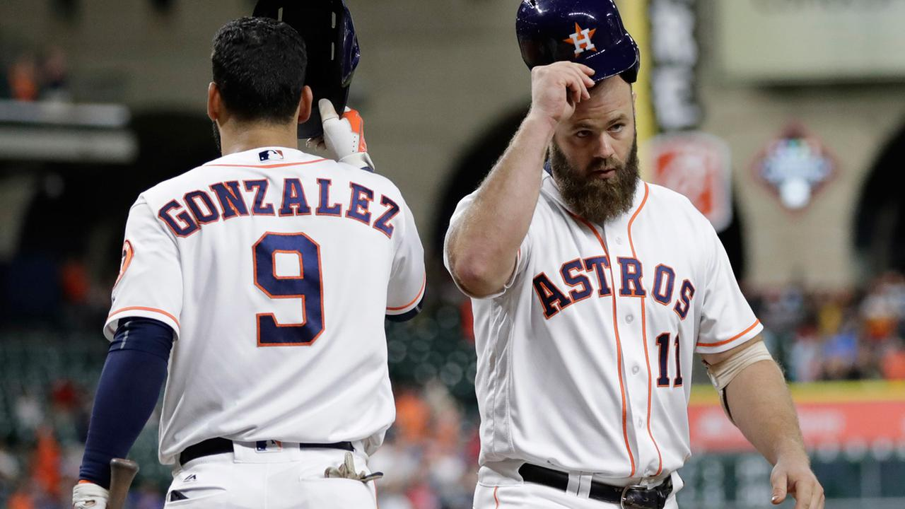 Houston Astros - Evan Gattis and Marwin Gonzalez