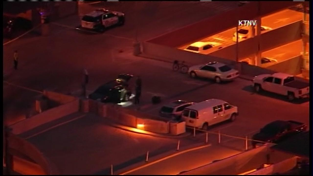 Two people shot in apparent domestic violence incident at Las Vegas airport