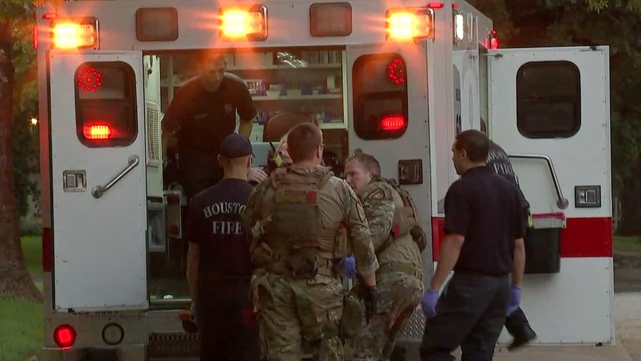 Several people hurt after shooter opens fire in Houston strip mall