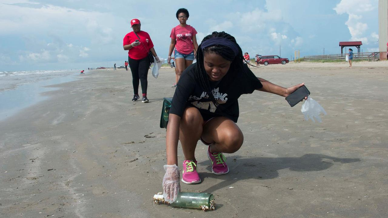 Beach clean-up weekend