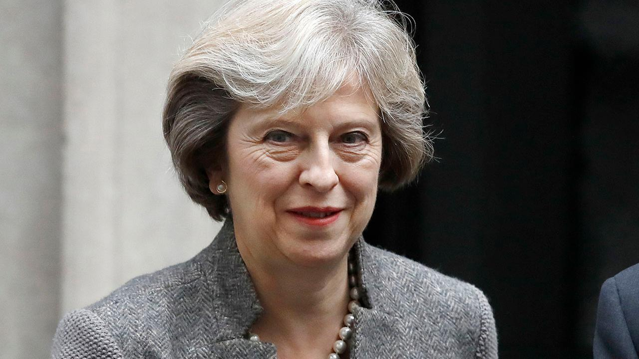 Britains Prime Minister Theresa May leaves 10 Downing Street in London. (AP Photo/Frank Augstein)