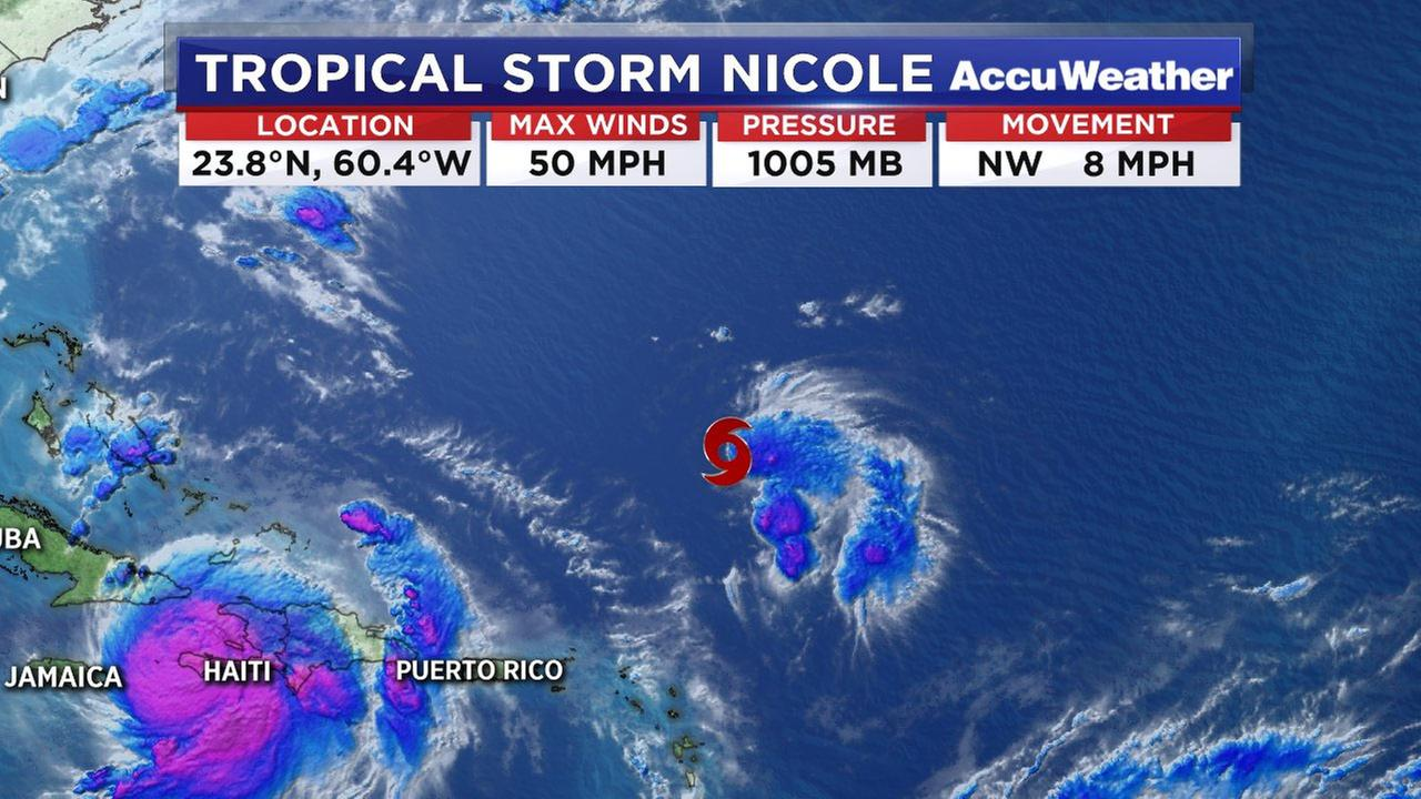 Tropical Storm Nicole forms in the Atlantic