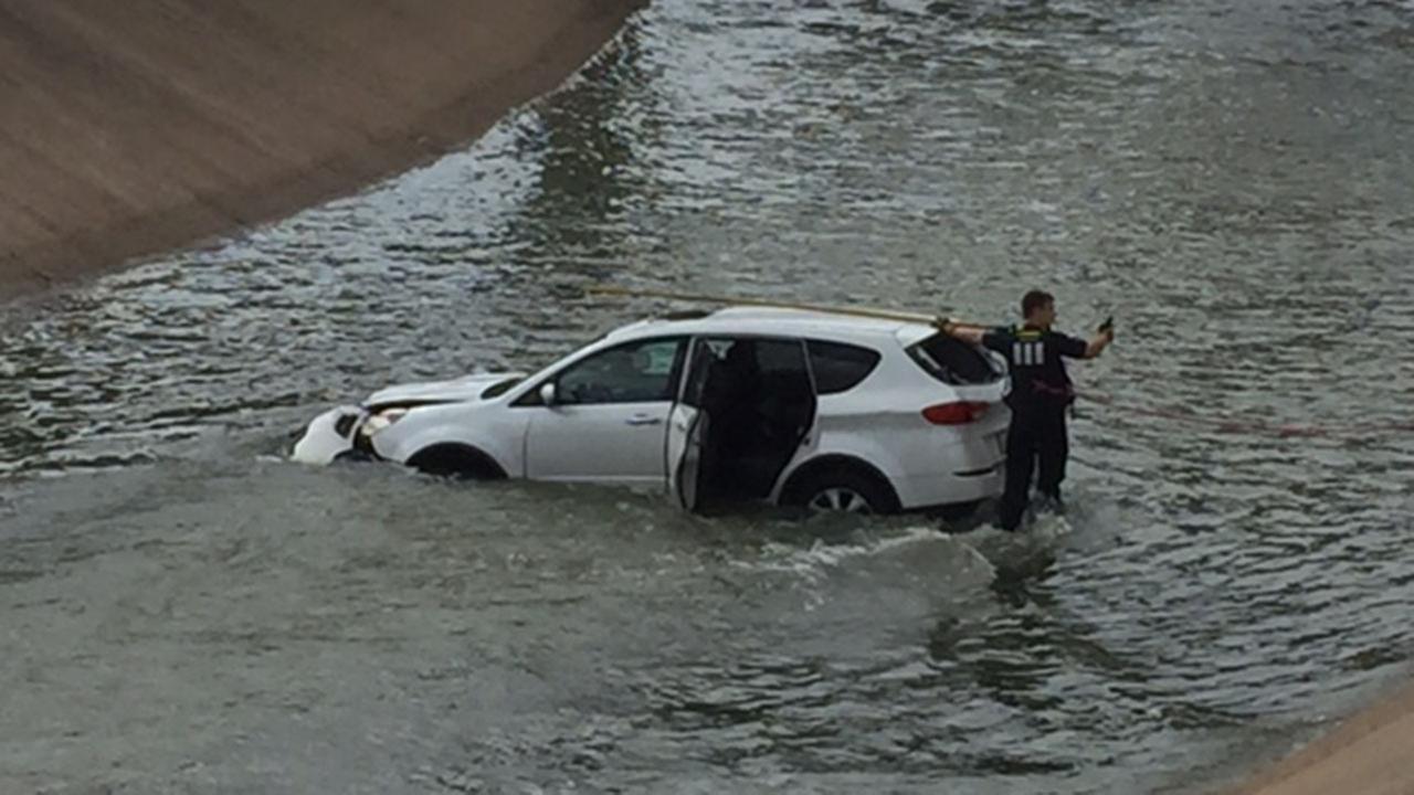 SUV in bayou
