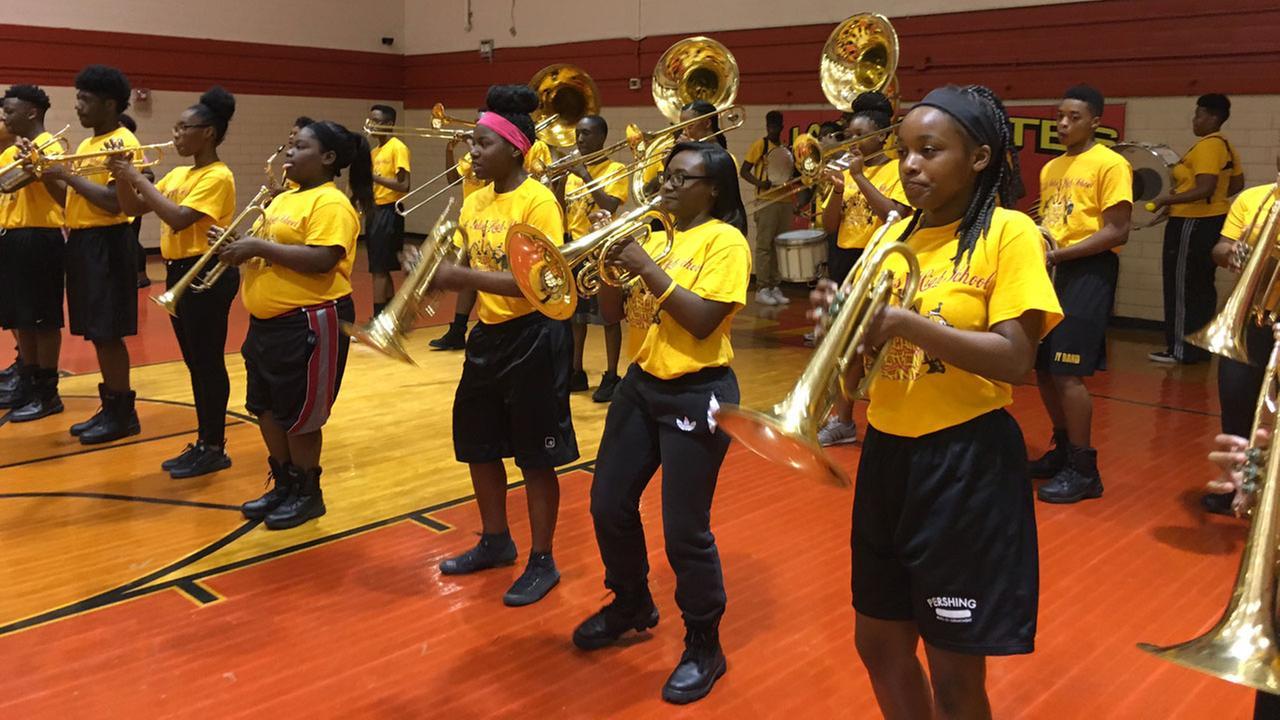 Yates High School band
