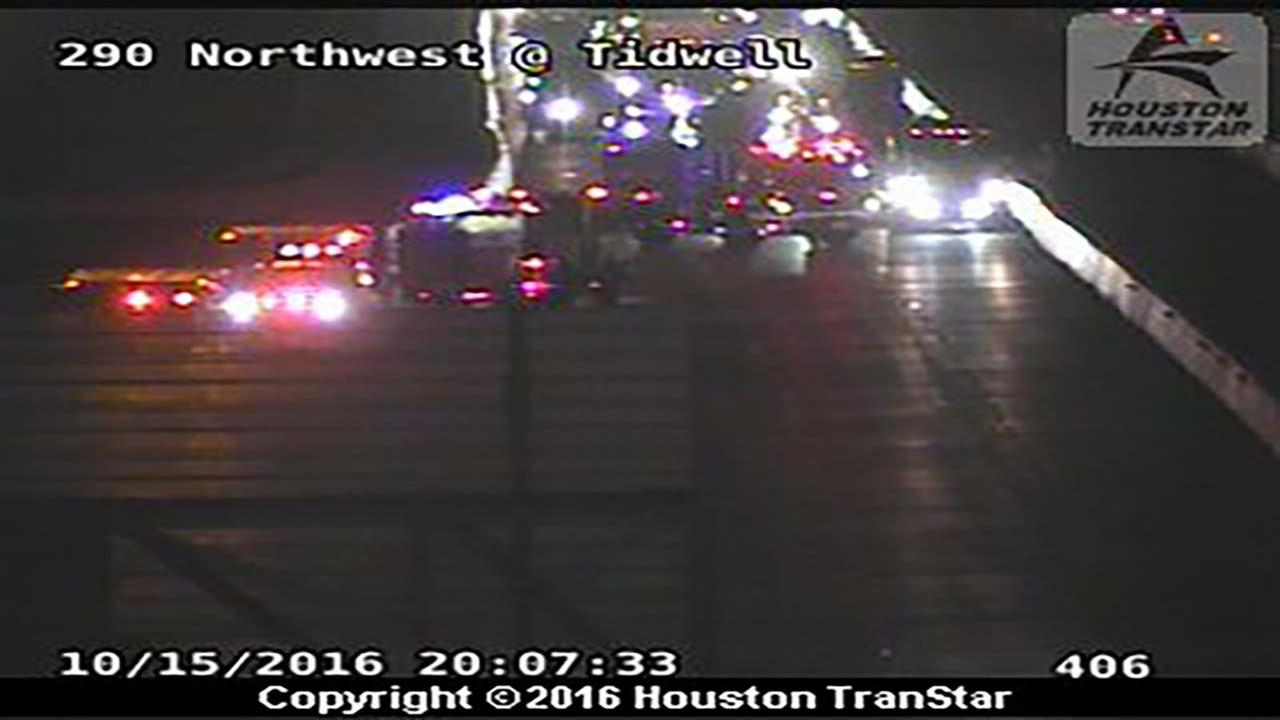 EB lanes shut down, pedestrian struck on 290 at Tidwell Road