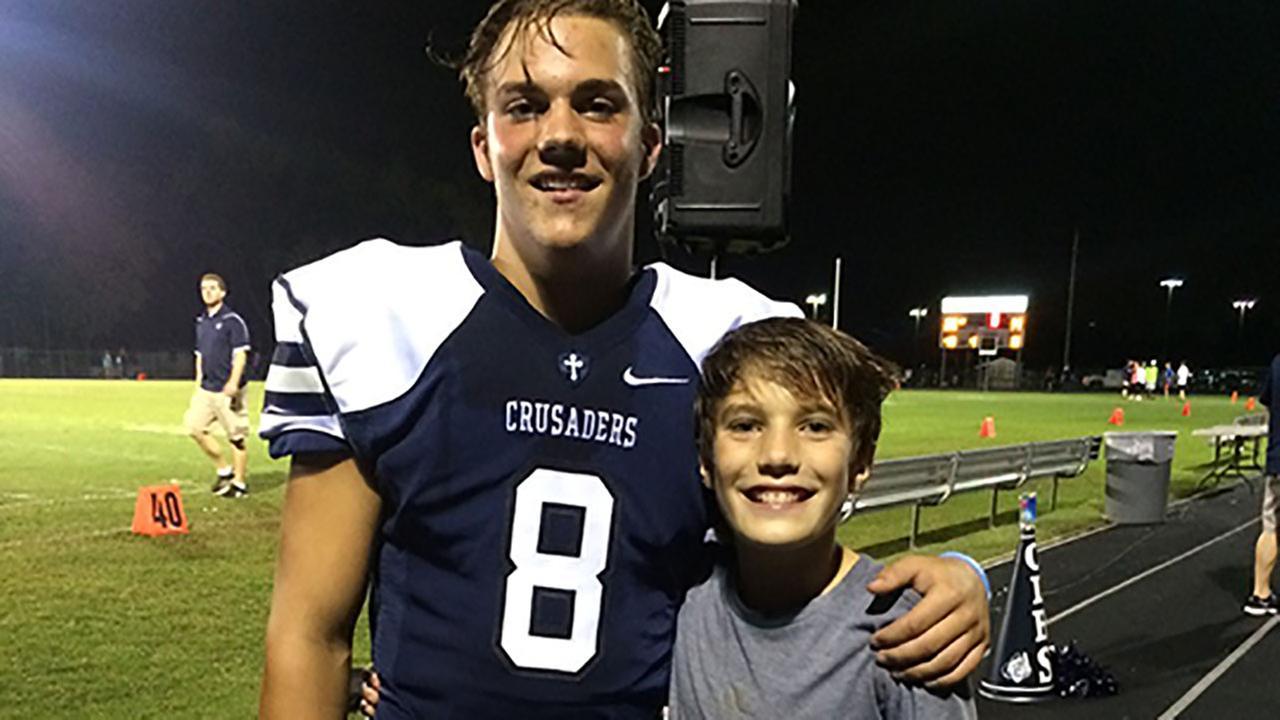 High School Football Star Dedicates Season to Childrens Cancer Research