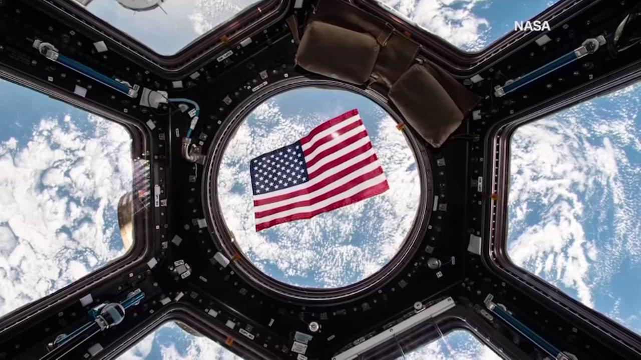 NASA astronaut votes from space