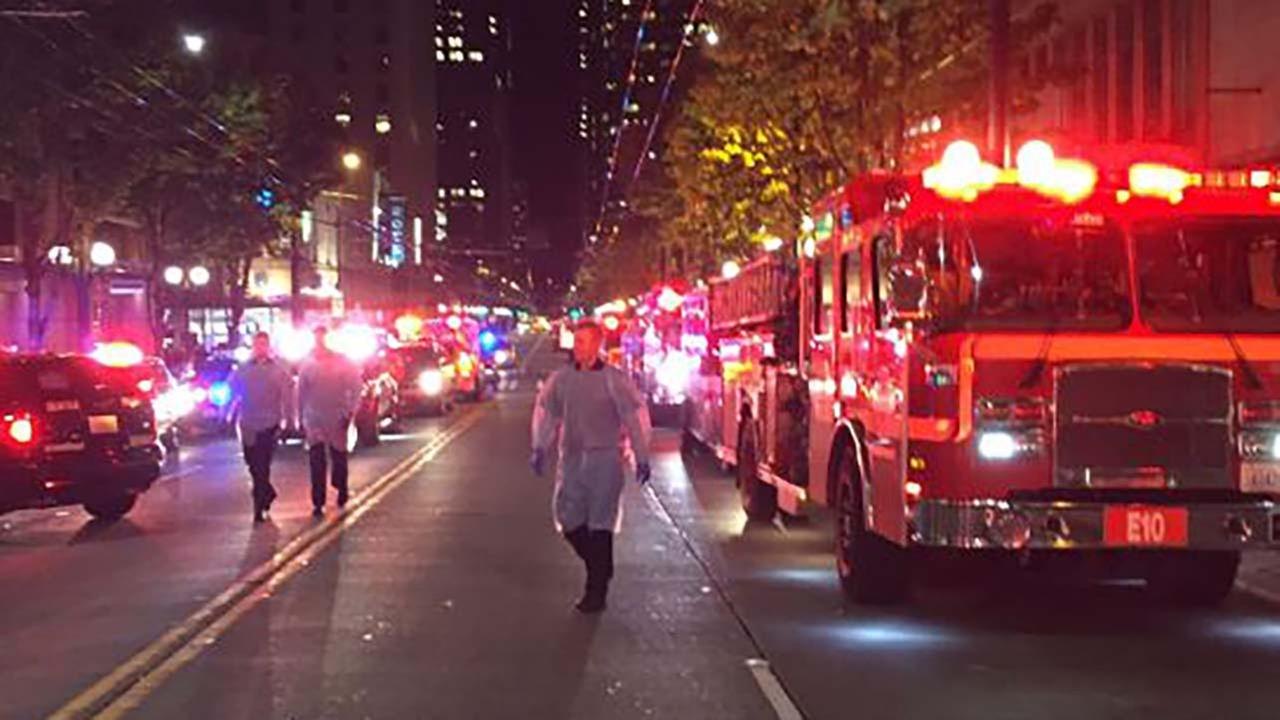 Five people shot in downtown Seattle