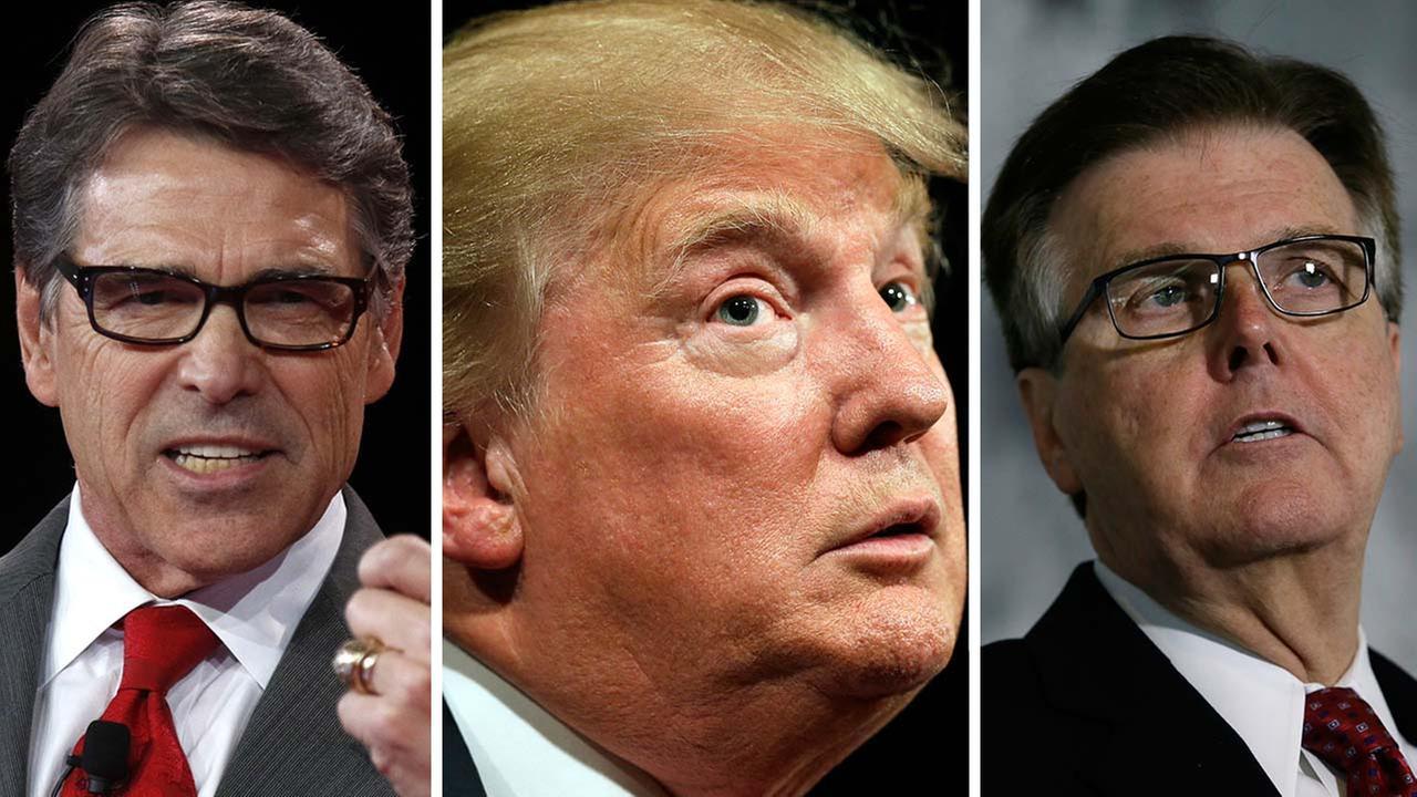 Rick Perry, Donald Trump, Dan Patrick