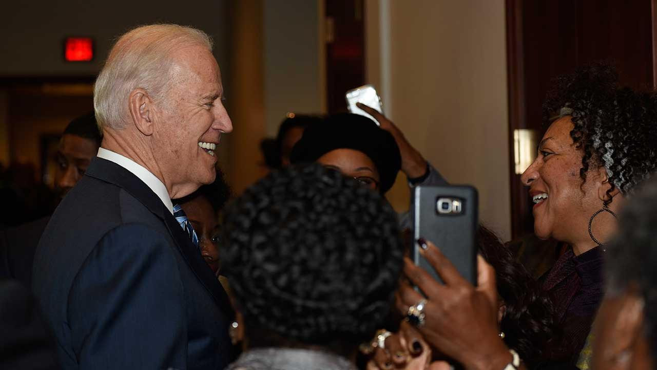 Vice President Joe Biden interacts with visitors on Capitol Hill in Washington, Tuesday, Dec. 6, 2016.